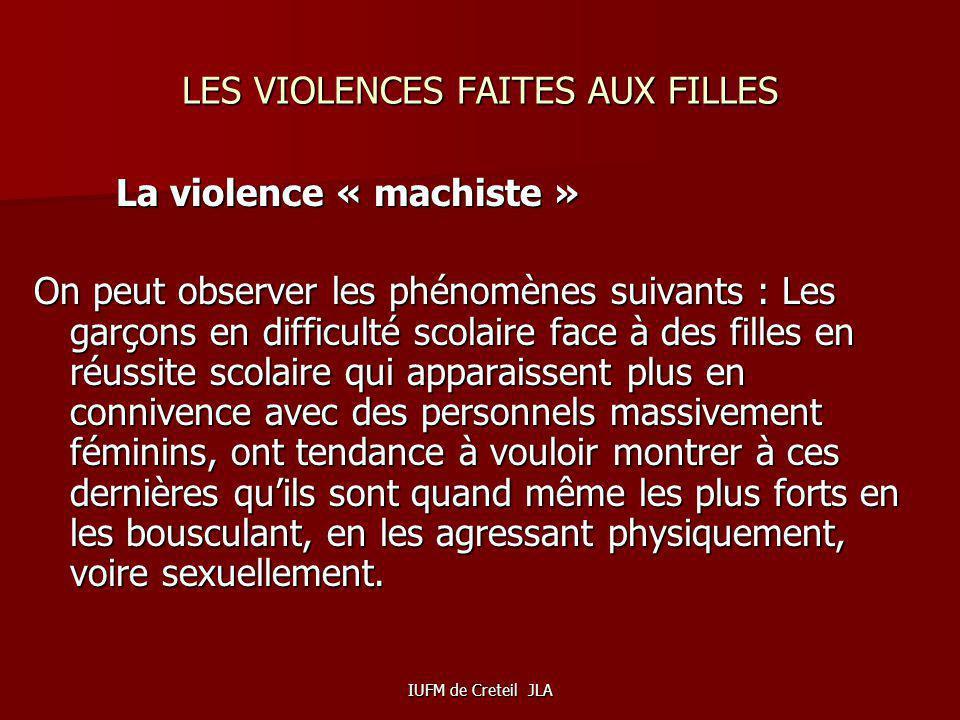 LES VIOLENCES FAITES AUX FILLES