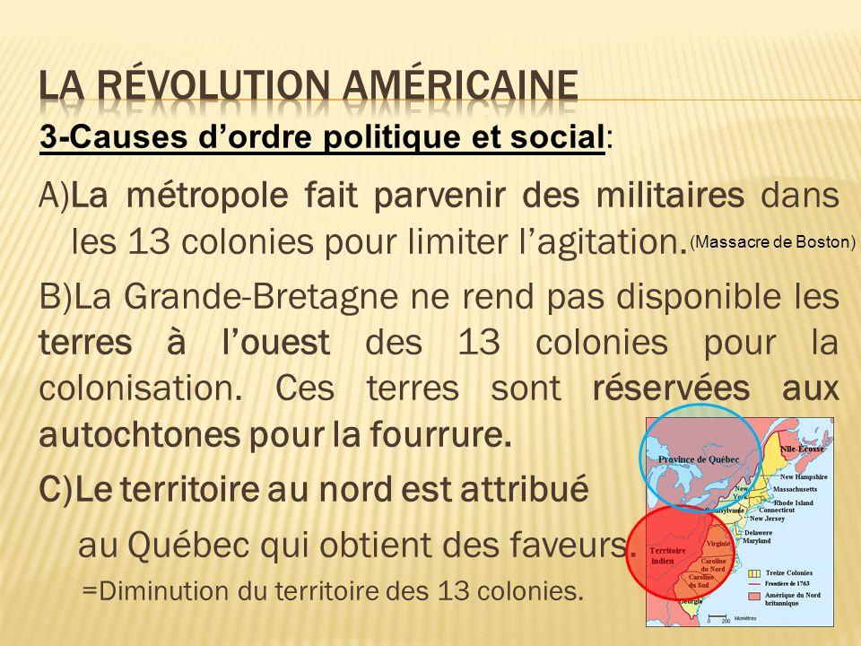 LA RÉVOLUTION AMÉRICAINE