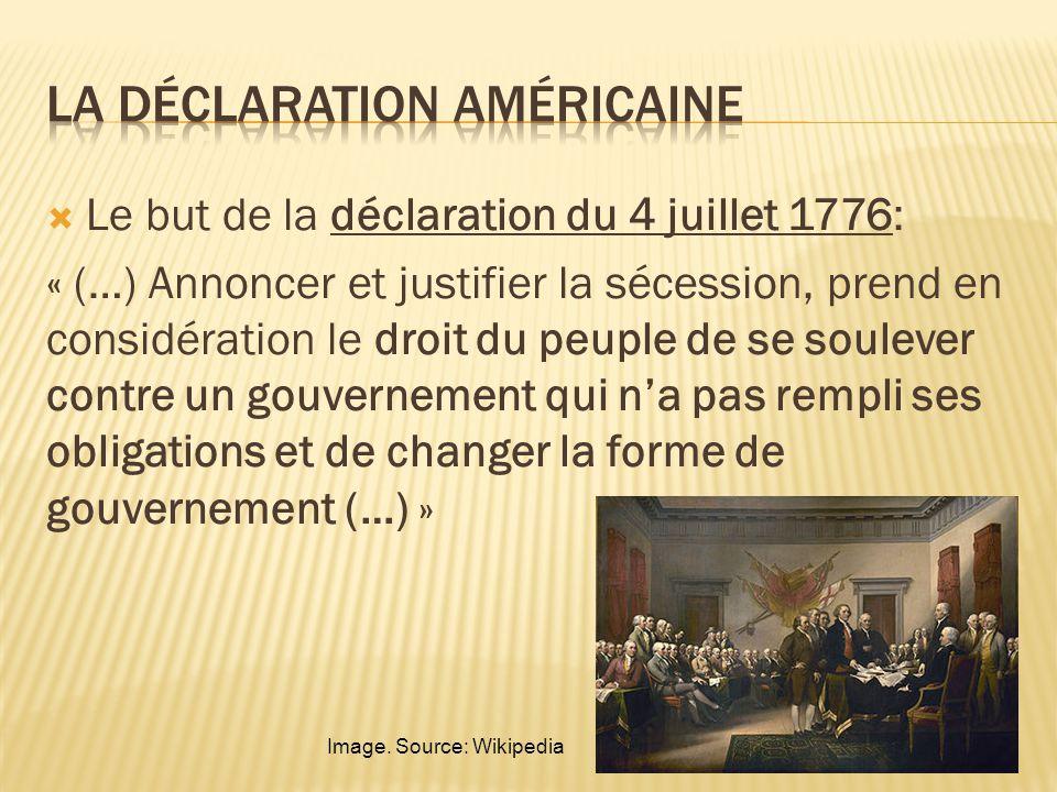 La déclaration américaine