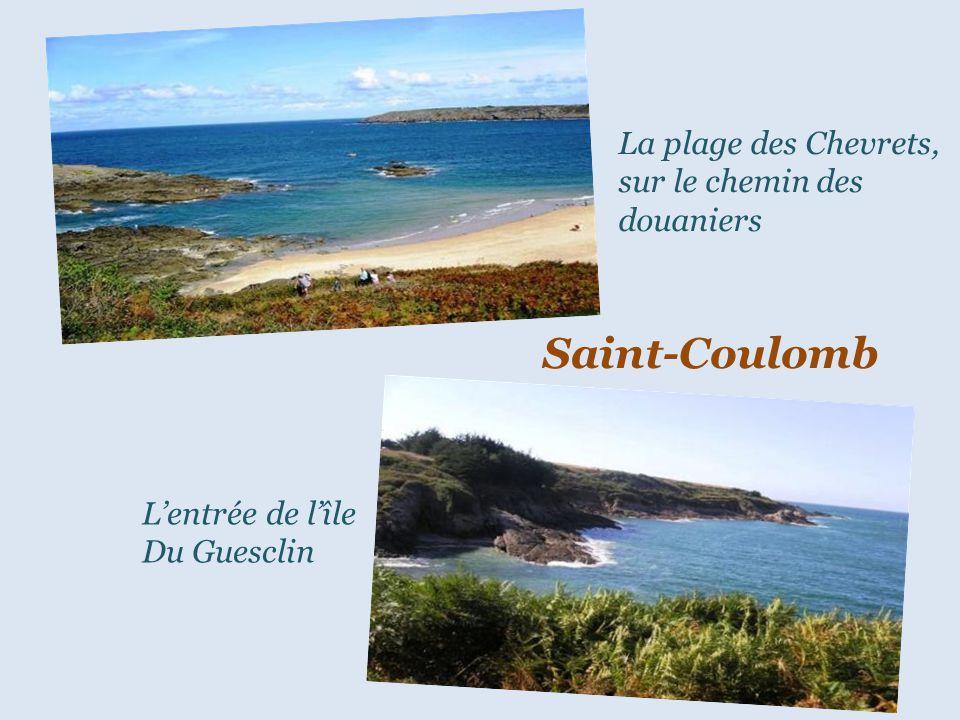 Saint-Coulomb La plage des Chevrets, sur le chemin des douaniers