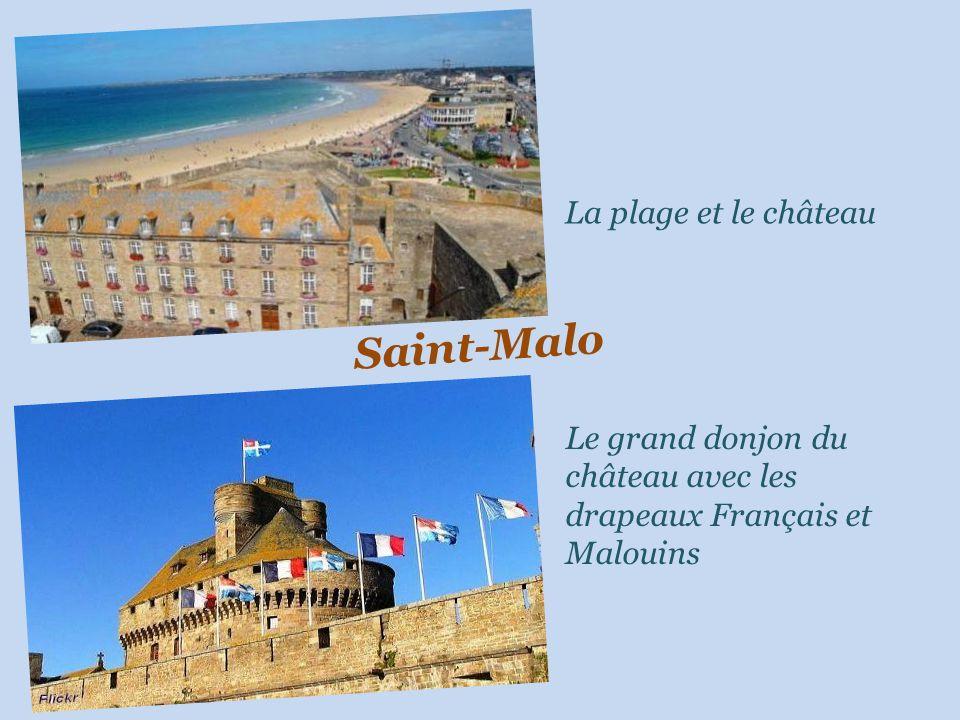 Saint-Malo La plage et le château