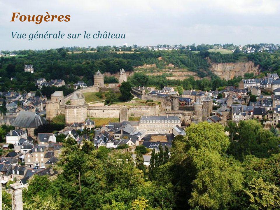 Fougères Vue générale sur le château