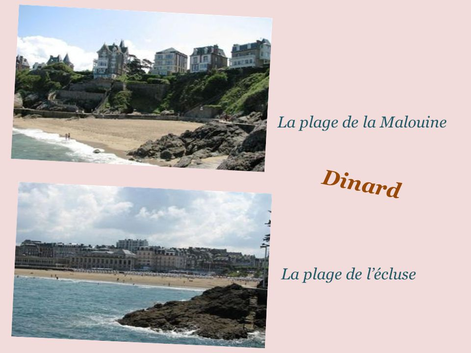 La plage de la Malouine Dinard La plage de l'écluse