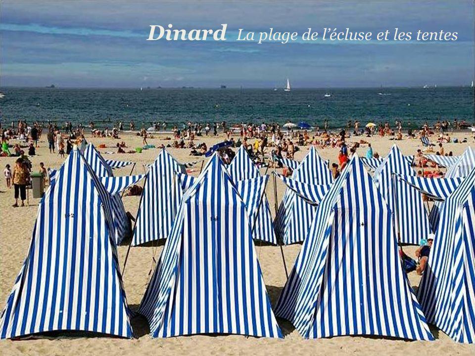 Dinard La plage de l'écluse et les tentes