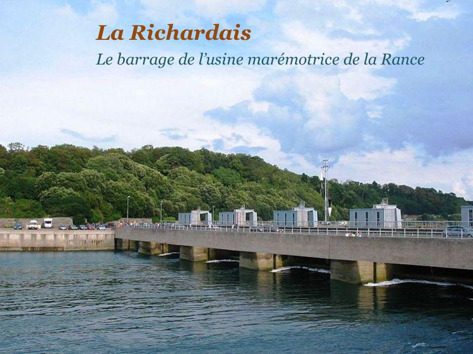 La Richardais Le barrage de l'usine marémotrice de la Rance