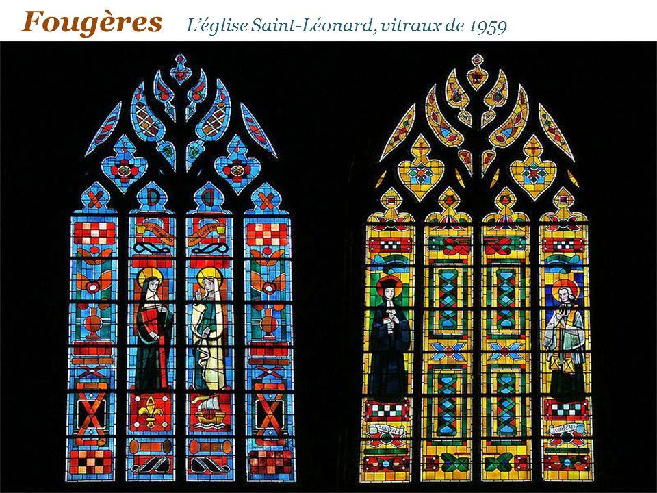 Fougères L'église Saint-Léonard, vitraux de 1959
