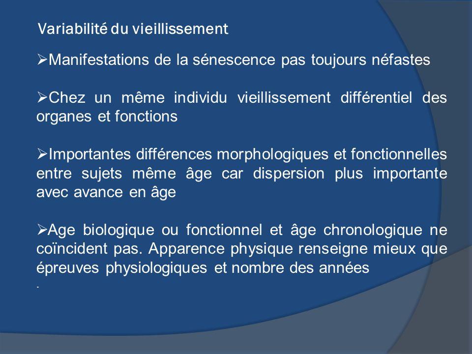 Variabilité du vieillissement