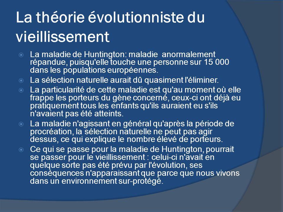 La théorie évolutionniste du vieillissement