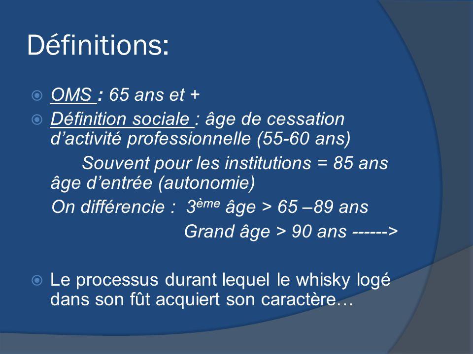 Définitions: OMS : 65 ans et +