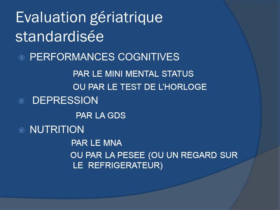 Evaluation gériatrique standardisée
