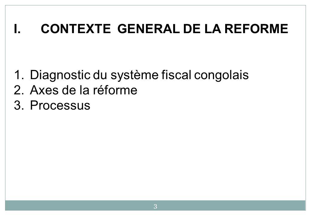 CONTEXTE GENERAL DE LA REFORME