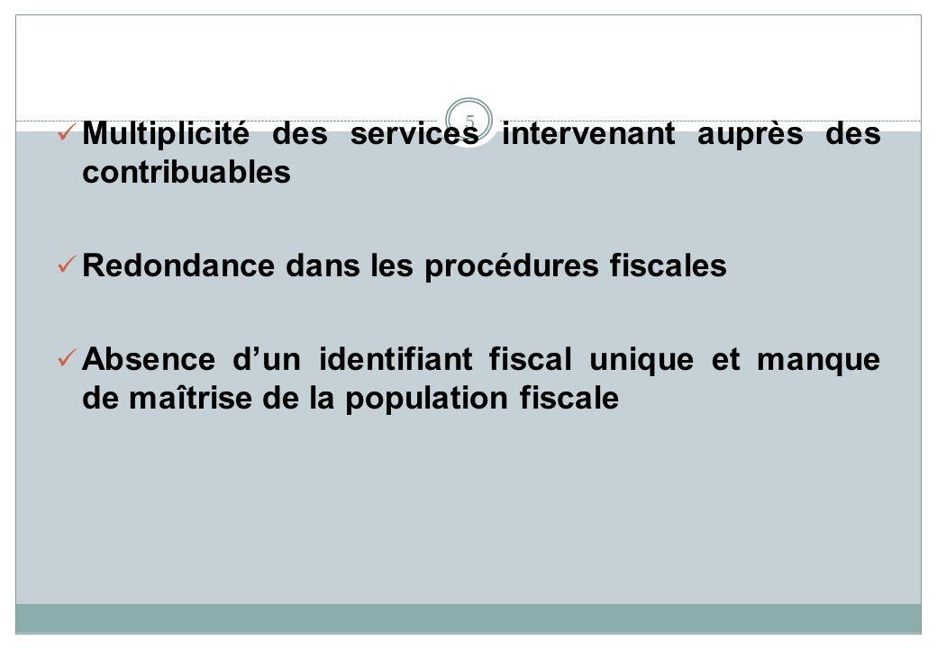 Multiplicité des services intervenant auprès des contribuables