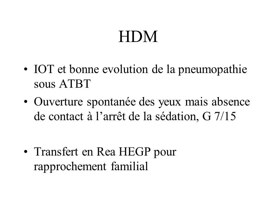 HDM IOT et bonne evolution de la pneumopathie sous ATBT
