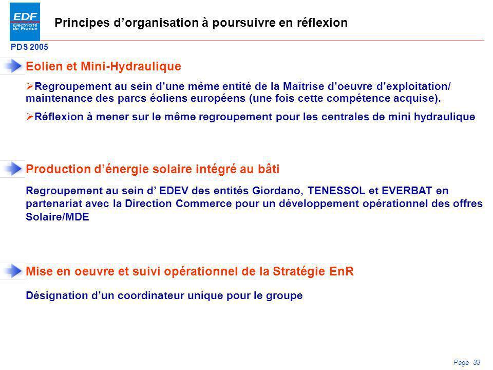 Principes d'organisation à poursuivre en réflexion