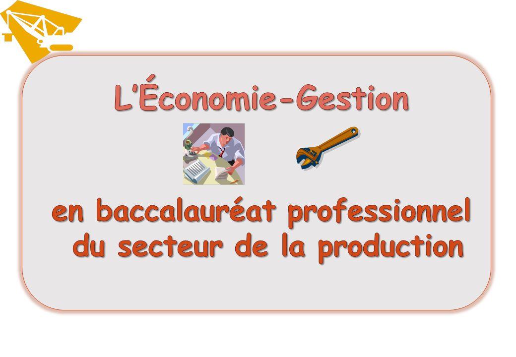 L'Économie-Gestion en baccalauréat professionnel du secteur de la production