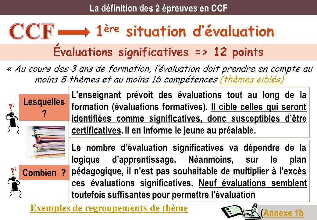 CCF 1ère situation d'évaluation