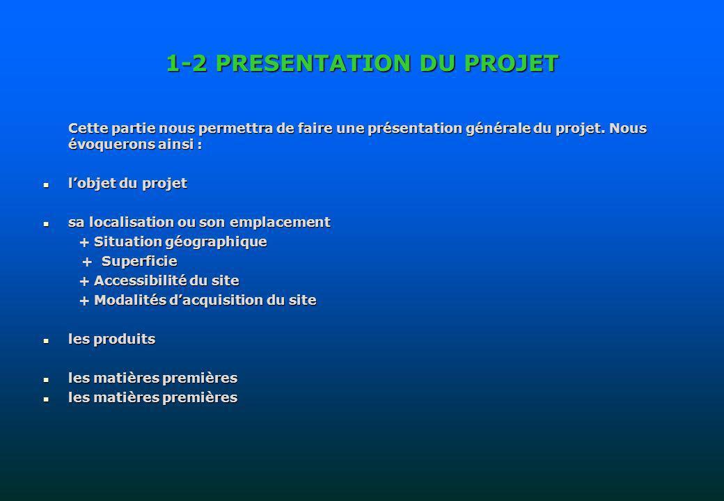 1-2 PRESENTATION DU PROJET