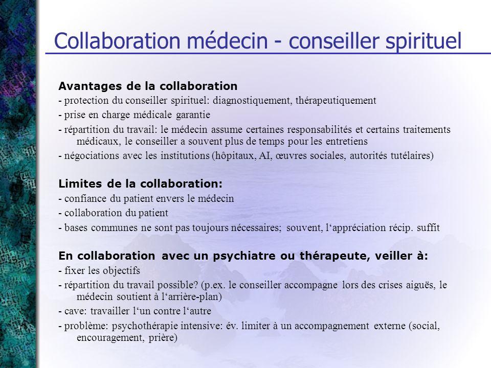 Collaboration médecin - conseiller spirituel