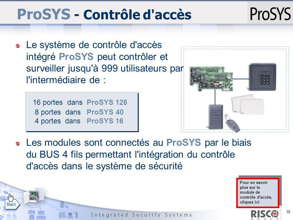 ProSYS - Contrôle d accès
