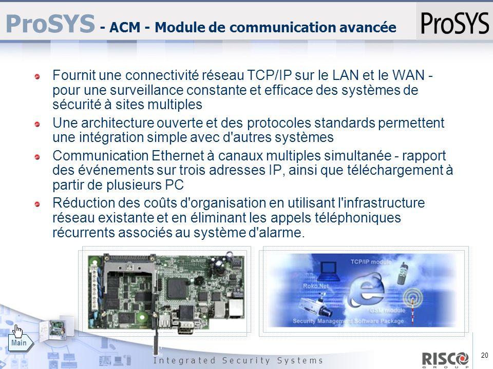 ProSYS - ACM - Module de communication avancée
