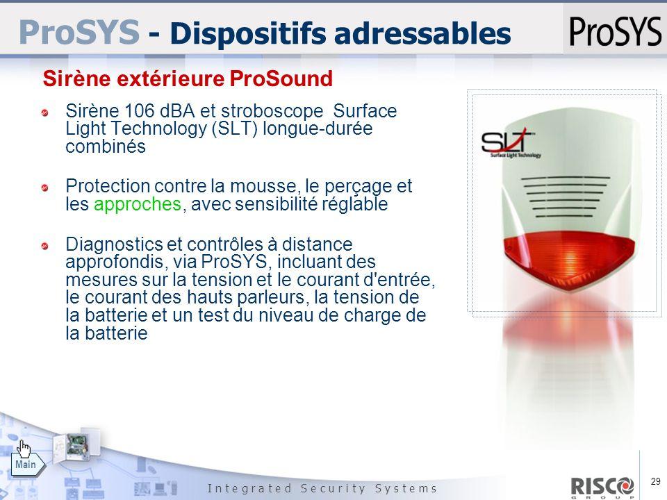 ProSYS - Dispositifs adressables