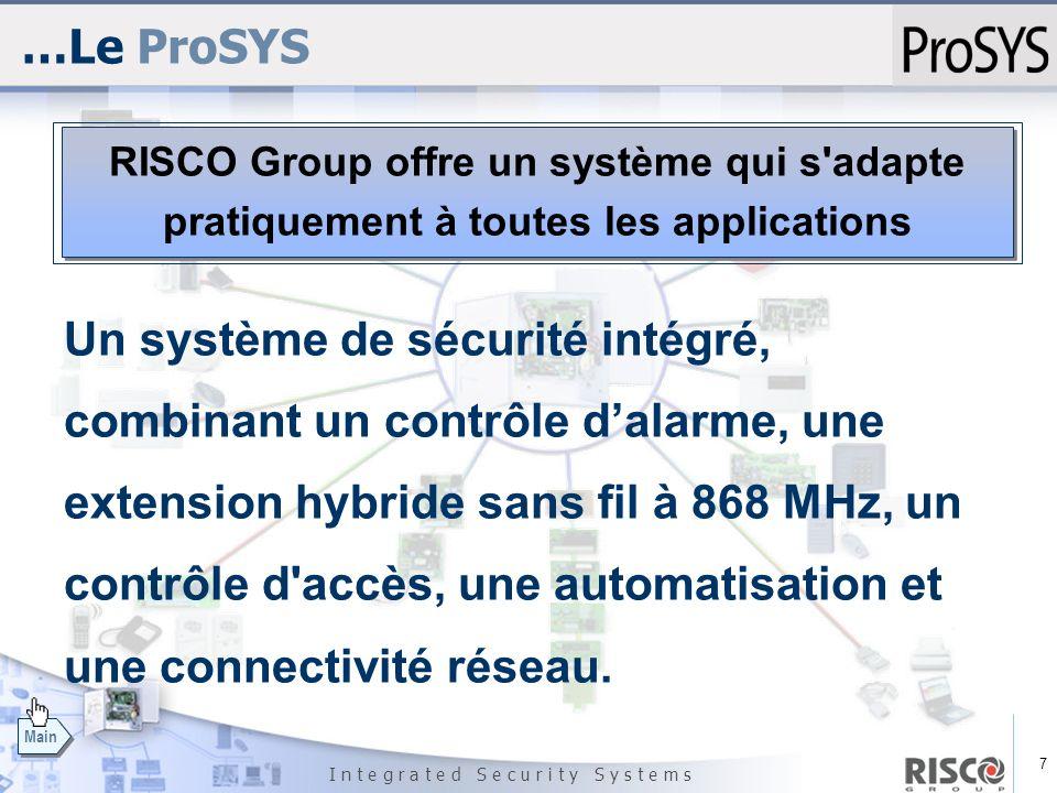 …Le ProSYS RISCO Group offre un système qui s adapte. pratiquement à toutes les applications.