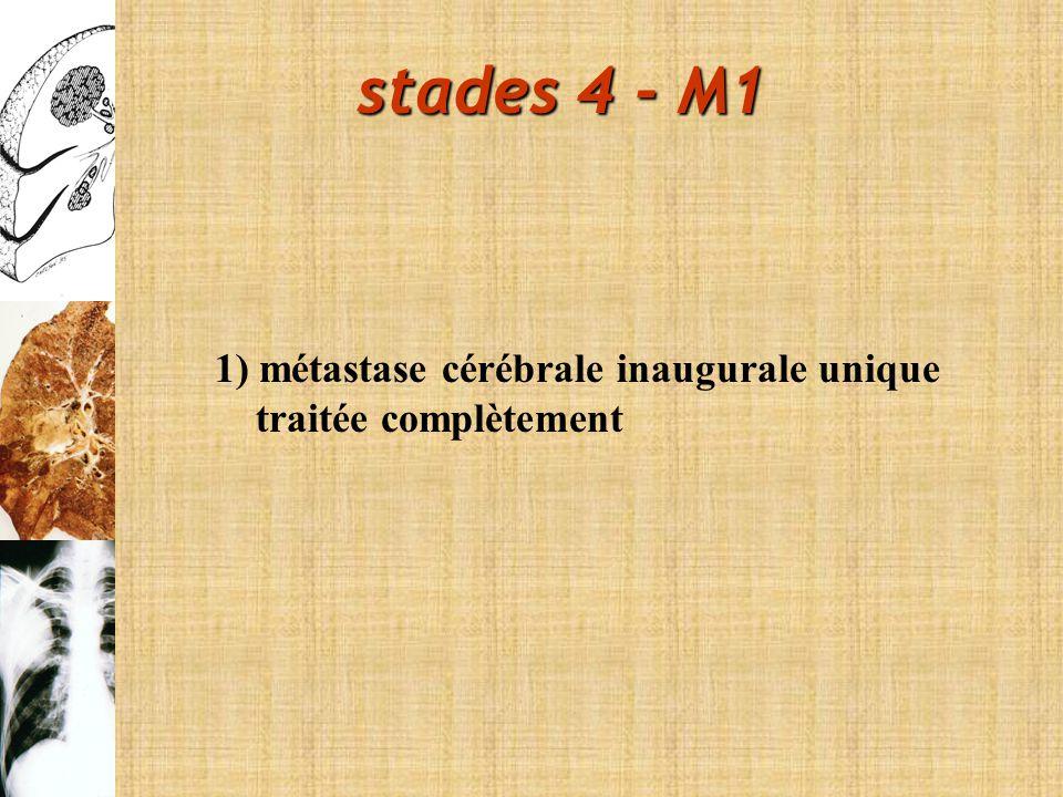 stades 4 - M1 1) métastase cérébrale inaugurale unique