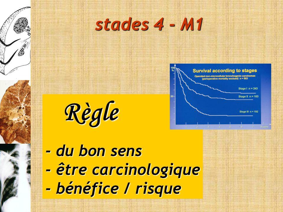 Règle stades 4 - M1 - du bon sens - être carcinologique