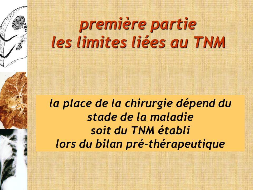 première partie les limites liées au TNM
