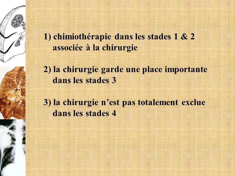 1) chimiothérapie dans les stades 1 & 2