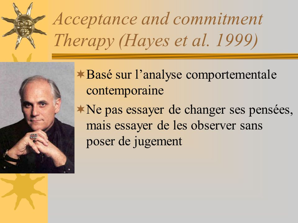 Acceptance and commitment Therapy (Hayes et al. 1999)