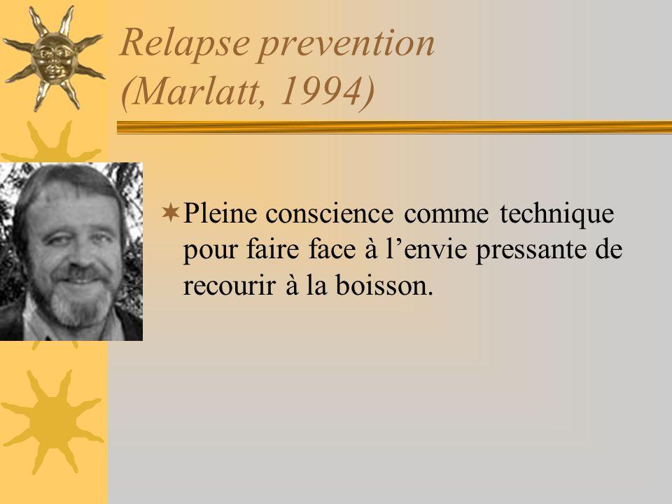 Relapse prevention (Marlatt, 1994)