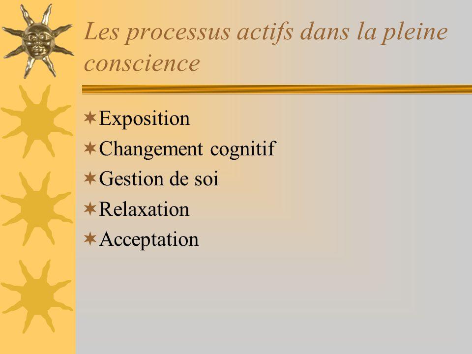 Les processus actifs dans la pleine conscience