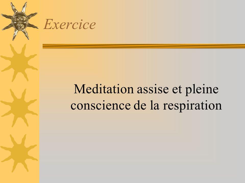 Meditation assise et pleine conscience de la respiration