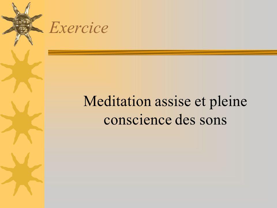 Meditation assise et pleine conscience des sons