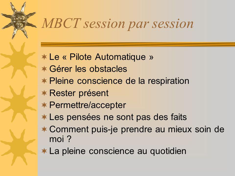 MBCT session par session