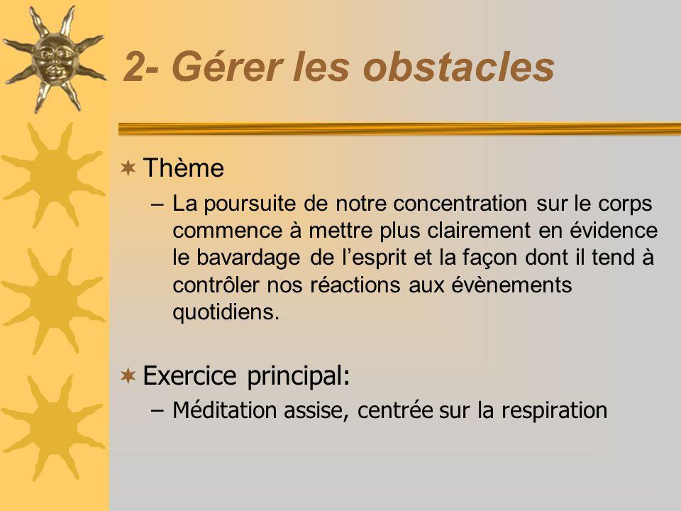 2- Gérer les obstacles Thème Exercice principal: