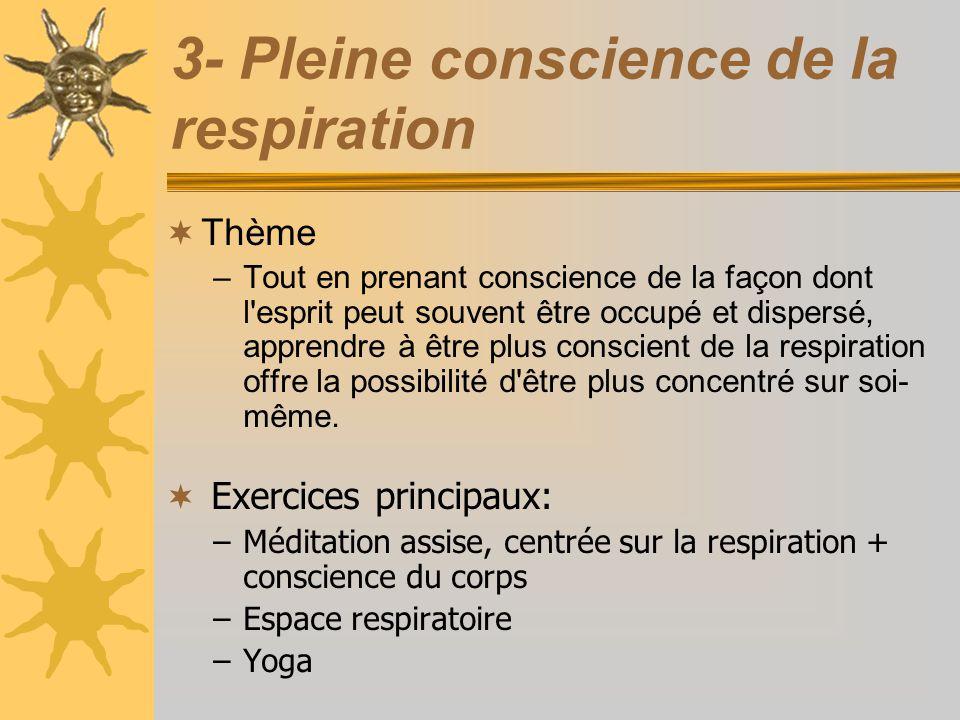 3- Pleine conscience de la respiration