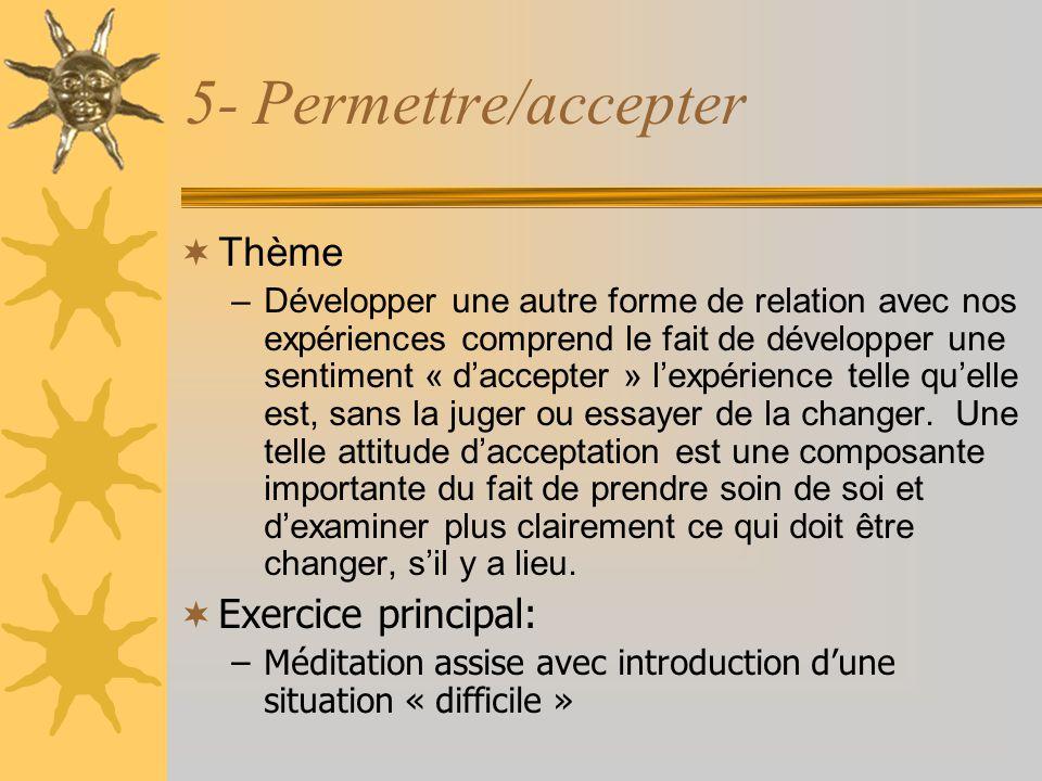 5- Permettre/accepter Thème Exercice principal: