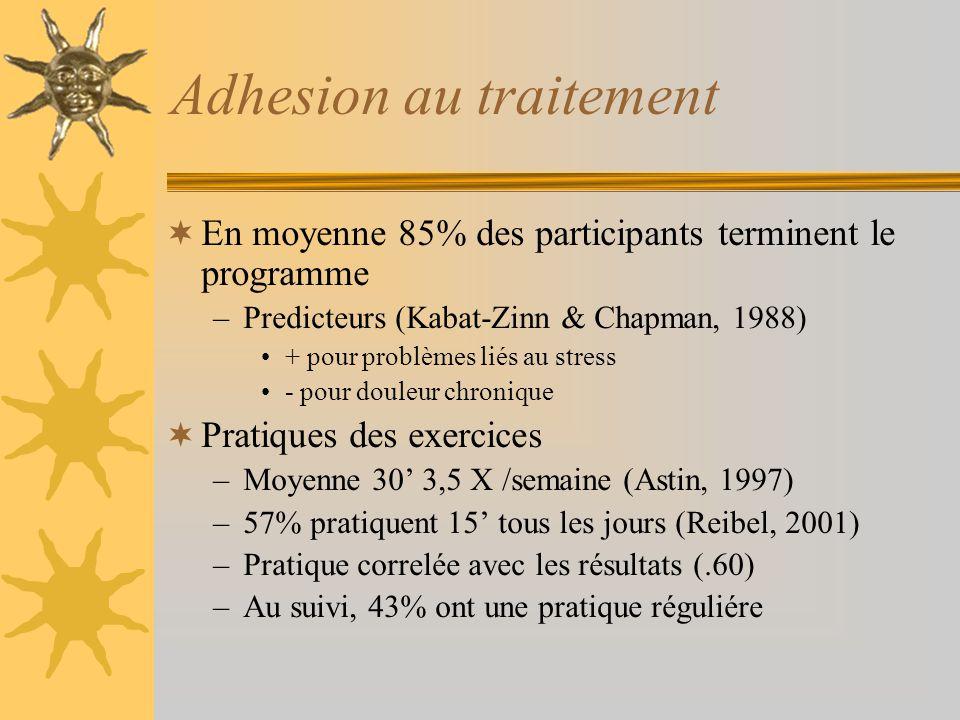 Adhesion au traitement