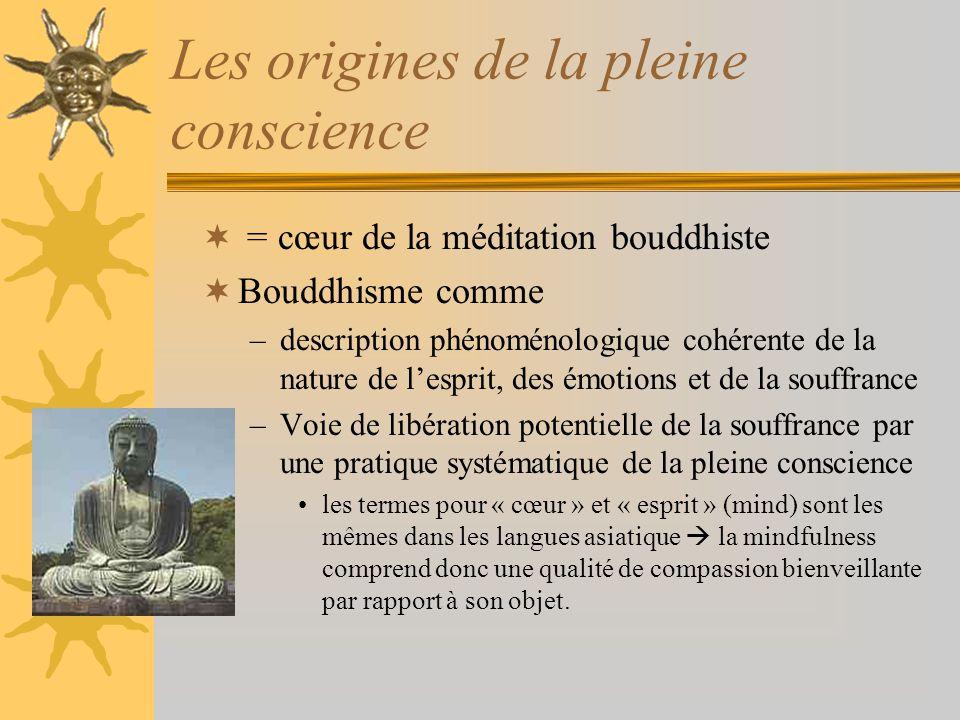 Les origines de la pleine conscience