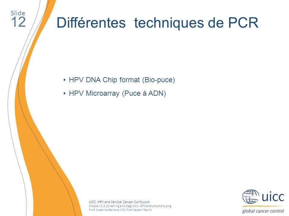 Différentes techniques de PCR