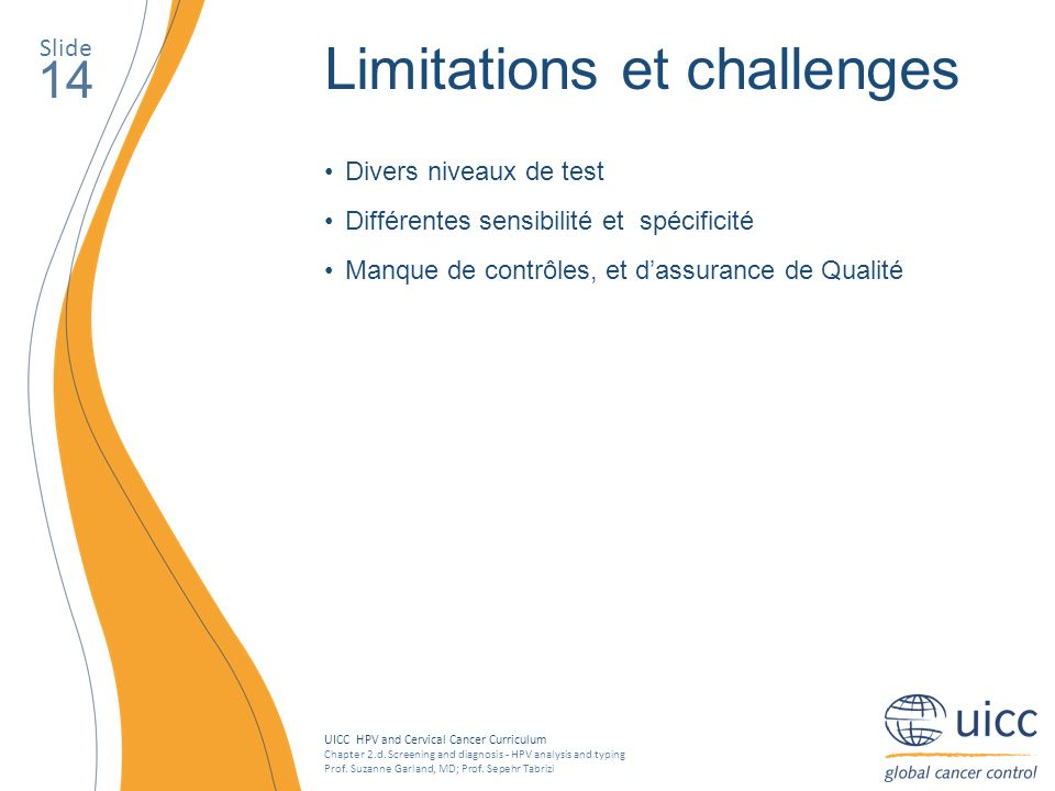 Limitations et challenges