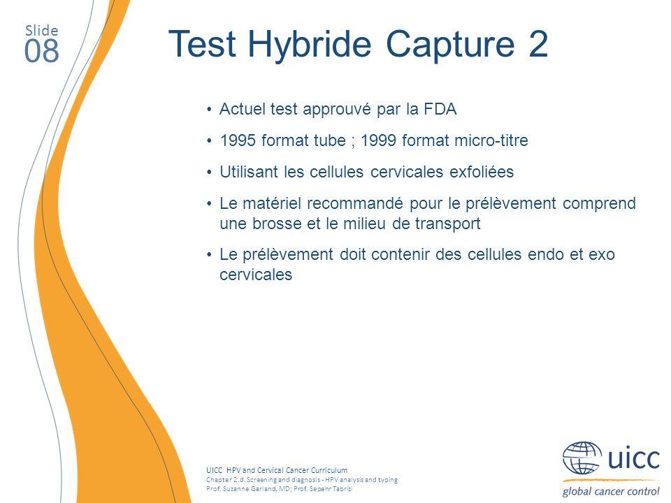 Test Hybride Capture 2 08 Slide Actuel test approuvé par la FDA