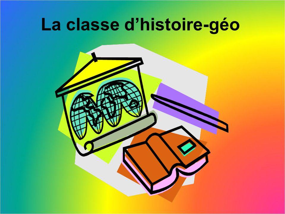 La classe d'histoire-géo