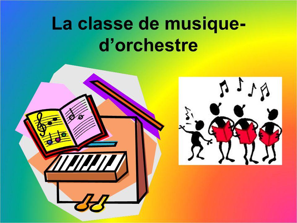 La classe de musique- d'orchestre