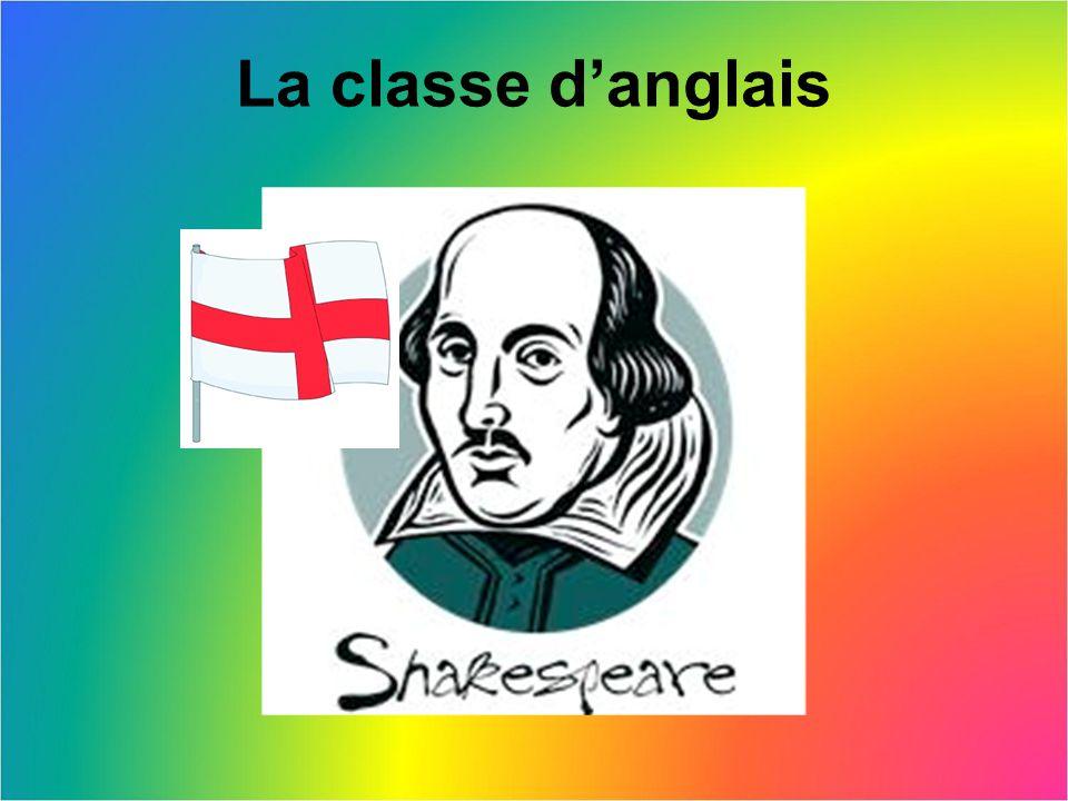 La classe d'anglais