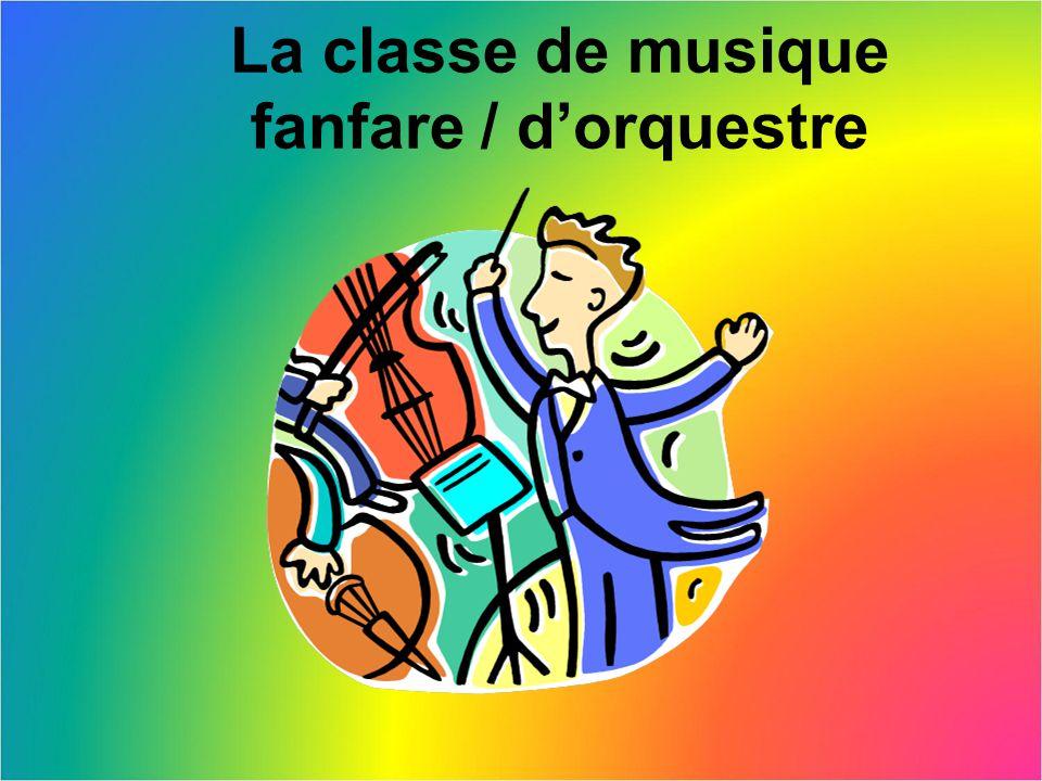 La classe de musique fanfare / d'orquestre