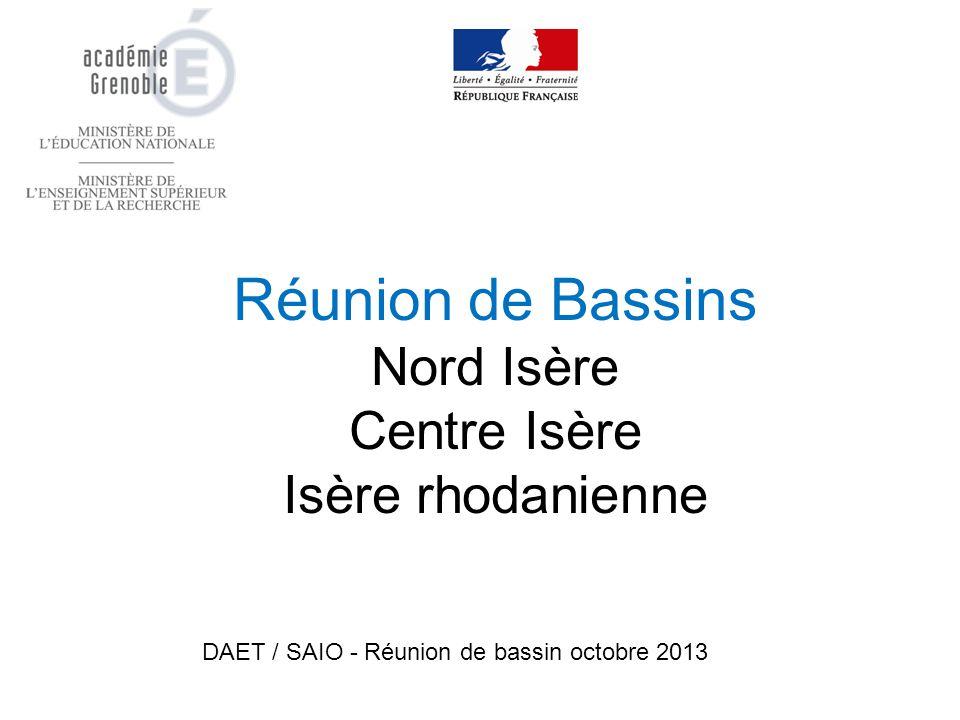 Réunion de Bassins Nord Isère Centre Isère Isère rhodanienne