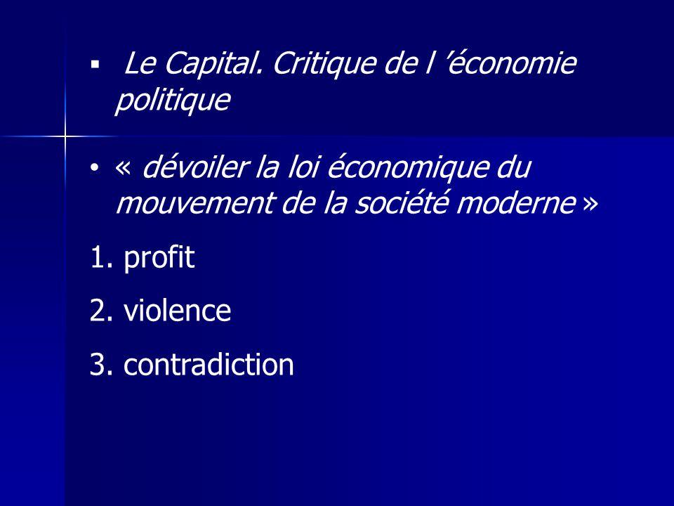 « dévoiler la loi économique du mouvement de la société moderne »